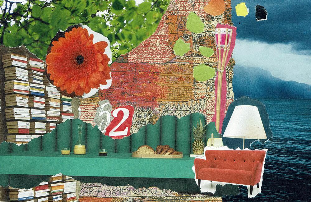Postkarte Wohnzimmer