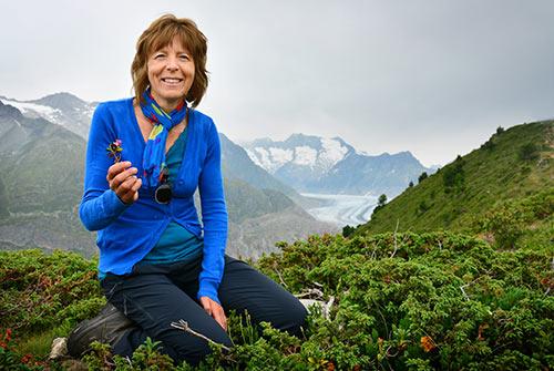 Andrea in den Bergen